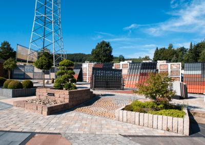 Ausstellungen Außenbereich Pflastersteine