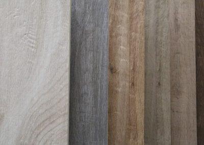 Ausstellungen Innenbereich Muster Holzfliesen Nahaufnahme