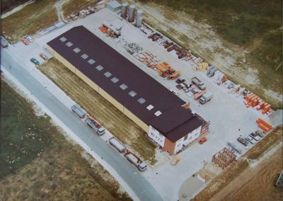 August Klocke Baustoffhandel Firmengebäude Luftansicht 1980