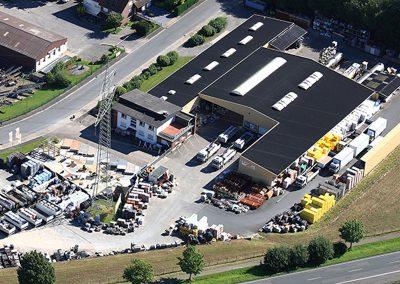 August Klocke Baustoffhandel Firmengebäude Luftansicht 2012