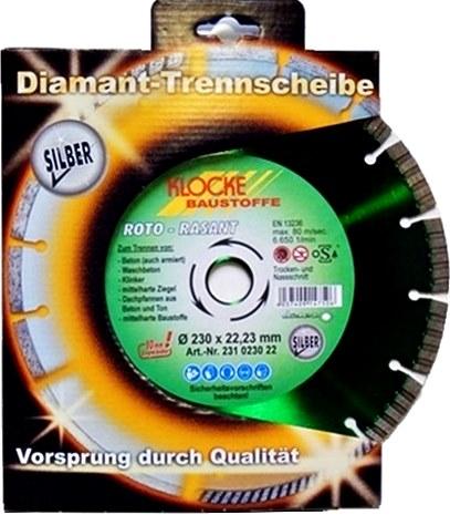 Foto Diamanttrennscheibe ROTO-RASANT Silber