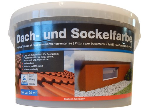 Foto decotric Dach-und Sockelfarbe 5L